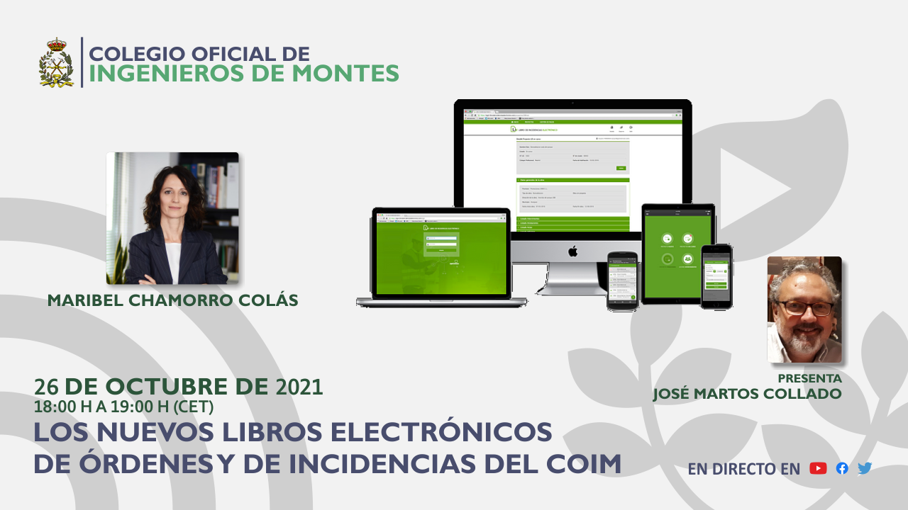 """Seminario web práctico """"Los nuevos Libros de Órdenes y de Incidencias Electrónicos del COIM"""""""
